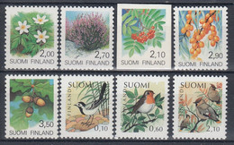 +G2430. Finland 1990-92. Definitive Stamps, 8 Items. MNH(**) - Unclassified