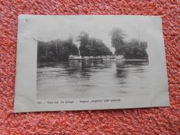 Cpa Congo Belge Bateau Vapeur Segitini 1908 - Congo Belga - Otros
