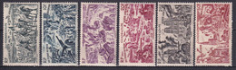 GUADELOUPE - 1946 - TCHAD AU RHIN - YVERT N° 7/12 * MLH - COTE = 11.5 EURO - 1946 Tchad Au Rhin