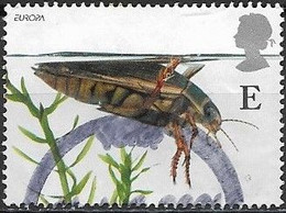 GREAT BRITAIN 2001 Europa. Pond Life - (E) - Great Diving Beetle FU - Oblitérés