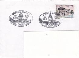 B01-290 Enveloppe FDC France Georges Simenon 1903 1989 Ecrivain 15-10-1994 Paris €2.5 - 1991-00