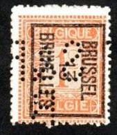 Préobltéré Typo N°37 Avec Perforation R.S.Stokvis (Bruxelles) - Typos 1912-14 (Lion)
