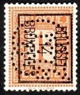 Préobltéré Typo N°37 Avec Perforation Indéterminée (Bruxelles) - Typos 1912-14 (Lion)