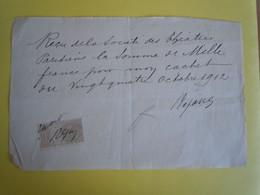 Pièce Autographe Signée REJANE (1856-1920) Célèbre Comédienne - Autographs