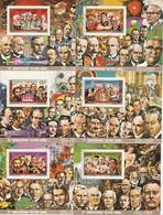 COMORES - 6 BLOCS  N°91/6 ** (1977) Prix Nobel - Comoros