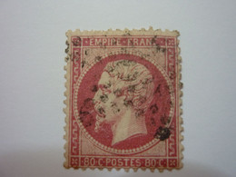 YT 24a - NAPOLEON 80c Rose Foncé - Obl - 1862 Napoleon III