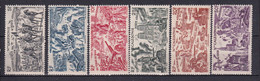 NOUVELLE CALEDONIE - 1946 - TCHAD AU RHIN - YVERT N° 55/60 ** MNH - COTE = 17.5 EURO - 1946 Tchad Au Rhin