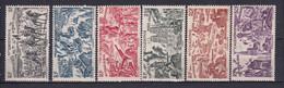 NOUVELLE CALEDONIE - 1946 - TCHAD AU RHIN - YVERT N° 55/60 * MLH - COTE = 15 EURO - 1946 Tchad Au Rhin
