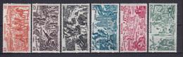 REUNION - 1946 - TCHAD AU RHIN - YVERT N° 36/41 * MLH - COTE = 9 EURO - 1946 Tchad Au Rhin