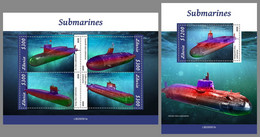 LIBERIA 2020 MNH Submarines U-Boote Sous-marins M/S+S/S - OFFICIAL ISSUE - DHQ2104 - Sous-marins