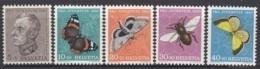 SCHWEIZ  550-554,  Postfrisch **, Pro Juventute 1950, Insekten - Neufs