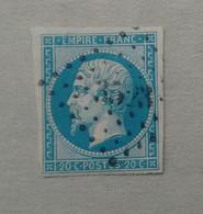 LOSANGE PETITS CHIFFRES 3523 DE VERDUN SUR SAONE - 1853-1860 Napoleone III