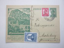 1935, Bildganzsache Nach Deutschland Verschickt - Postkaarten
