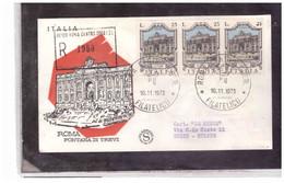 FDC7177  -      10.11.1973   /   FDC   FONTANE D'ITALIA - 1° SERIE - F.D.C.