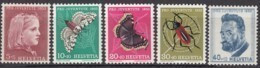 SCHWEIZ  588-592,  Postfrisch **, Pro Juventute 1953, Insekten - Neufs