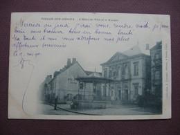 CPA 71 TOULON SUR ARROUX Hotel De Ville Et Kiosque RARE PLAN ? PRECURSEUR 1901 - Altri Comuni