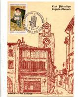 EXPOSITION PHILATELIQUE DE BAGNOLS SUR CEZE GARD 1975 - Gedenkstempels