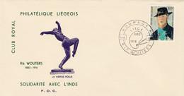 Enveloppe 1384 Rik Wouters La Vierge Folle Solidarité Avec L' Inde - Lettres & Documents