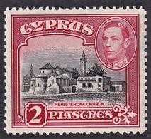 CIPRO 1938 KGVI 2P CARMINE  SG 155b MLH* LUSSO - Cipro (...-1960)