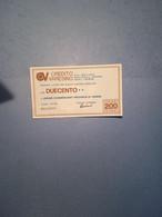ITALIA-MINIASSEGNO-CREDITO VARESINO-UNIONE COMM.PROVINCIA VARESE-200 - [10] Assegni E Miniassegni