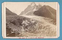 Chamonix Vers 1870 * Glacier Des Bois Vu Du Chapeau * CDV Photo Tairraz - Antiche (ante 1900)