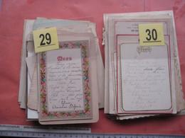 Lot Van 67 Oude MENUS, 90% Mooie Voorkanten Zie Foto's Voor Achterzijden Met Kleefsporen Uit Album Begin 1880 Tot 1930' - Menus
