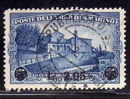 REPUBBLICA DI SAN MARINO 1936 S. SAN FRANCESCO ST FRANCIS LIRE 2,05 SU 1,25 USATO USED OBLITERE' - Used Stamps