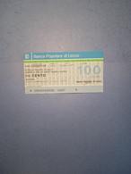 ITALIA-MINIASSEGNO-BANCA POPOLARE DI LECCO-UNIONE COMMERCIANTI LECCHESI-100 - [10] Assegni E Miniassegni
