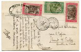 RC 19879 MADAGASCAR 1918 VATOMANDRY SUR CARTE POSTALE CENSURÉE POUR LA SUISSE - Storia Postale