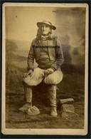 PLOZEVET -  Photographie Sur Carton - Photographe J. Villard à Quimper - 11 X 16,5 Cm - Unclassified