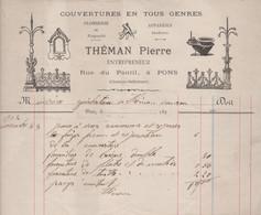 17 PONS THEMAN PIERRE ENTREPRENEUR COUVERTURES EN TOUS GENRES - 1900 – 1949