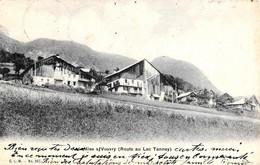 [DC12428] CPA - SVIZZERA - MIEX SUR VOUVRY - ROUTE AU LAC TANNEY - Viaggiata 1906 - Old Postcard - VS Valais