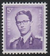 BELGIE Boudewijn Bril * Nr 1029 * Postfris Xx * WIT  PAPIER  Donkere Kleur - 1953-1972 Occhiali