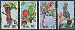 "Samoa1991 - 4 Valeurs ""Perroquets ""  Neuf ** MNH - Papagayos"