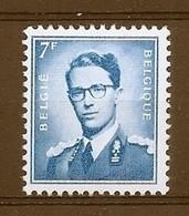 BELGIE Boudewijn Bril * Nr 1069Ba * Postfris Xx * WIT  PAPIER - 1953-1972 Occhiali