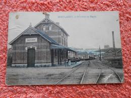 Cpa Hoeylaert Hoeilaart Gare Station Colorisé - Hoeilaart