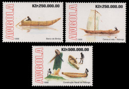 Angola 1998 - Mi-Nr. 1266-1268 ** - MNH - Boote / Boats - Angola