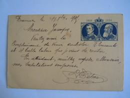 Belgique Entier Postwaardestuk 1830 -1905 2. 5 C  Blauw Bleu Circulée Namur - St. Servais - Illustrat. Cards