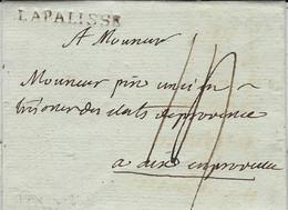 Novembre 1791 - Lettre De LA PALISSE ( Allier ) Lenain N°3 Taxe 14 Pour Aix En Provence - 1701-1800: Vorläufer XVIII