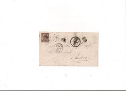 Belgique COB 19 Ambulant MIDI 1 Vers ROUBAIX (NIPA 300) - 1858-1862 Medaglioni (9/12)