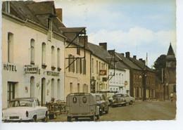 CPSM 59 LIESSIES Nord - La Grande Rue - Hôtel Restaurant - Voitures Années 60 Citroën 2CV Fourgonnette, Simca Aronde P60 - Loos Les Lille