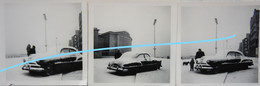Photox5 OOSTENDE 1955 Digue Sous La Neige Winter Auto Wagen Kust - Orte