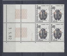 TAXE N° 111 - Bloc De 4 COIN DATE - NEUF SANS CHARNIERE - 3/5/82 - Portomarken