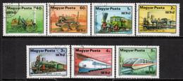 Hungary 1979 Mi# 3343-3349 A Used - Railroad Development / Trains - Gebruikt
