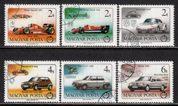 Hungary 1986 Mi# 3828-3833 A Used - Automobile, Cent. / Cars - Gebruikt