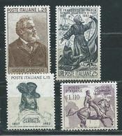 I112 ITALIA  VARI 1957  4 V.    MNH ** - 1946-60: Nieuw/plakker