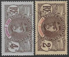 Ivory Coast  1906   Sc#22 Used & 23 MH   2016 Scott Value $4.40 - Ungebraucht