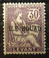 ROUAD 1916, Type Mouchon Surchargé Yvert No 12, 30 C Violet Brun Neuf * MH TB - Nuovi