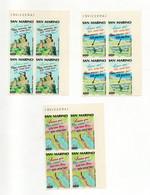 San Marino - 1990 - Anno Europeo Del Turismo - 3 Valori In Quartina - Nuove**- Con Bordo Di Foglio - (FDC27924) - Unused Stamps
