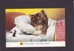 Cat Card -   Go Away, I'm Too Sleepy.   D Tempest.   Bamforth. - Cats
